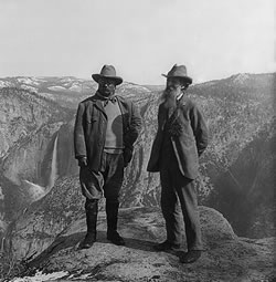 President Theodore Roosevelt and John Muir