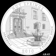 Hot Springs Park Quarter Design AR-03 (Click to Enlarge)