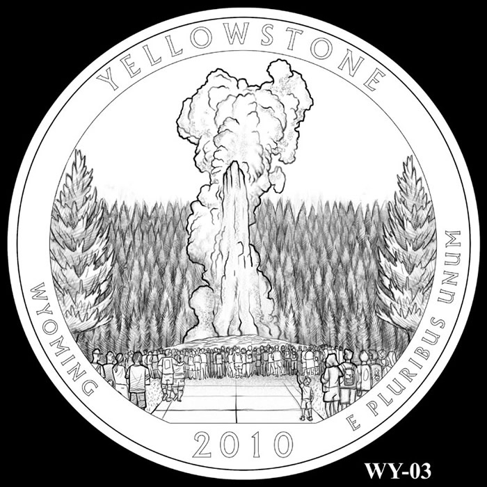 yellowstone park quarter design wy03 click to enlarge