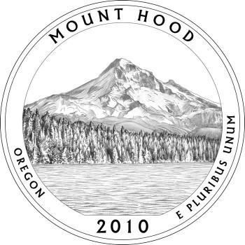 Mount Hood National Forrest Quarter Design