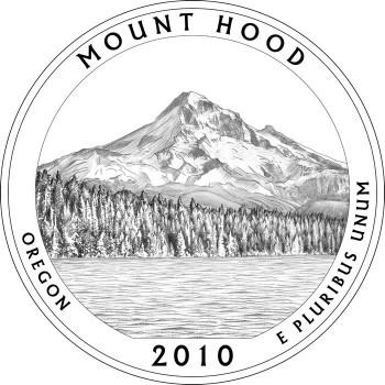 Mount Hood National Forrest Quarter Design