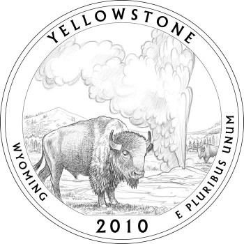 Yellowstone National Park Quarter Design