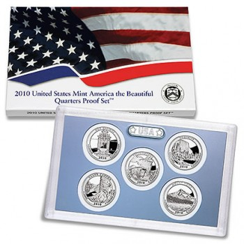 2010 US Mint America the Beautiful Quarters Proof Set