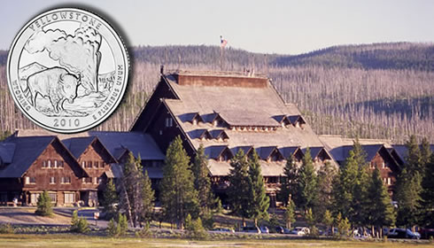 Old Faithful Inn in Yellowstone National Park (NPS photo of the inn)