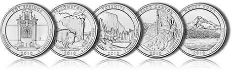 2010 National Park Silver Coins Feature the Same Designs as the 2010 America the Beautiful Quarters