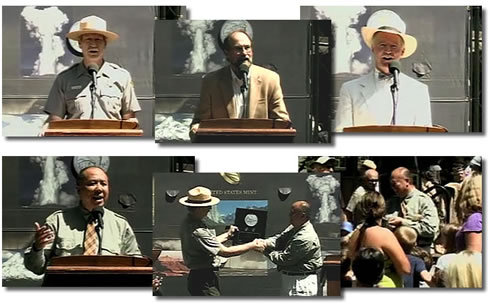 2010 Yosemite National Park Quarters Officially Released in Ceremony. From left to right: Yosemite National Park Superintendent Don Neubacher, Chairman of the Mariposa County Board of Supervisors Kevin Cann, Historian Tom Bopp, U.S. Mint Director Ed Moy.