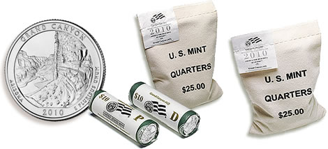 2010 Grand Canyon National Park Quarter Rolls and Bags