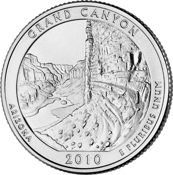 US National Park Quarter 2010-D  BU  Mint State GRAND CANYON