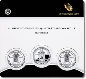 Hot Springs National Park Quarter Three-Coin Set