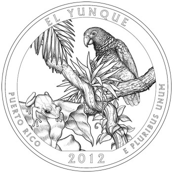 2012 El Yunque National Forest Quarter Design