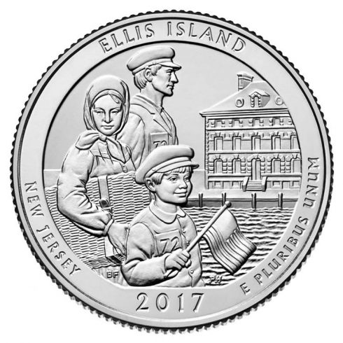 Ellis Island quarter for New Jersey