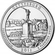 Gettysburg National Military Park Quarter (US Mint image)