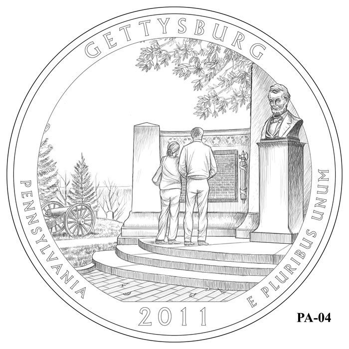 Gettysburg National Military Park Quarter Design PA-04 (Click to Enlarge)
