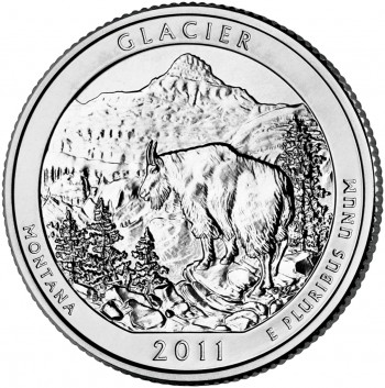 Glacier National Park Quarter (US Mint image)