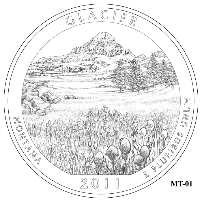 Glacier National Park Quarter Design MT-01 (Click to Enlarge)