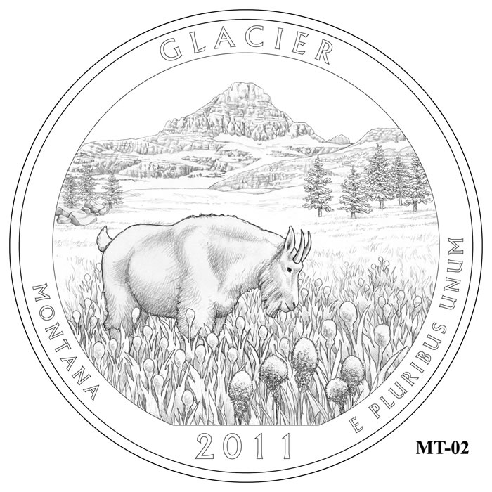 Glacier National Park Quarter Design MT-02 (Click to Enlarge