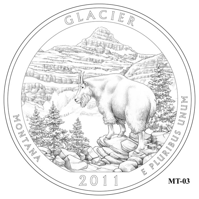 Glacier National Park Quarter Design MT-03 (Click to Enlarge)