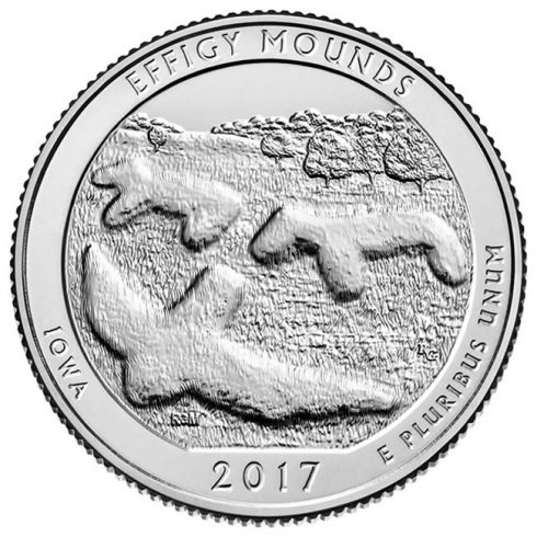 Iowa 2017 Effigy Mounds National Monument Quarter