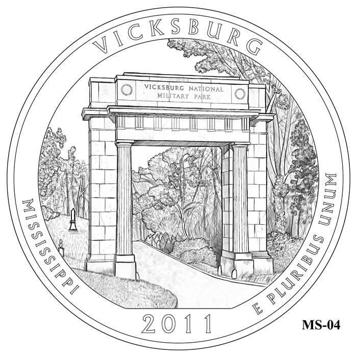 Vicksburg National Military Park Design MS-04 (Click to Enlarge
