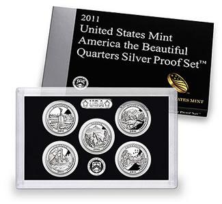 2011 America the Beautiful Quarters Silver Proof Set
