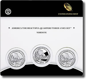 Yosemite National Park Quarter Three-Coin Set
