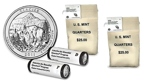 Glacier National Park Quarter Rolls and Bags