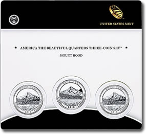 Mount Hood National Forest Quarter Three-Coin Set