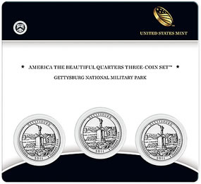 Gettysburg National Military Park Quarter Three-Coin Set