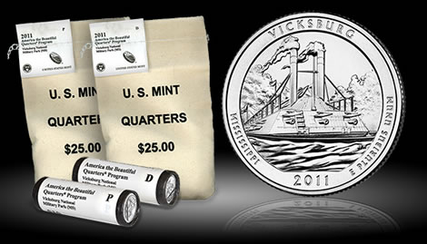 Vicksburg National Military Park Quarter, Rolls and Bags
