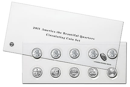 2011 National Park Quarters Circulating Coin Set