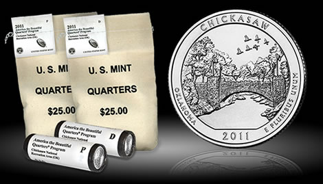 Chickasaw National Recreation Area Quarter Rolls and Bags