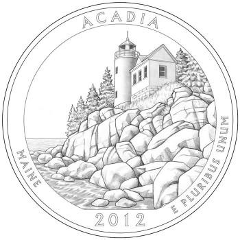2012 Acadia National Park Quarter Design