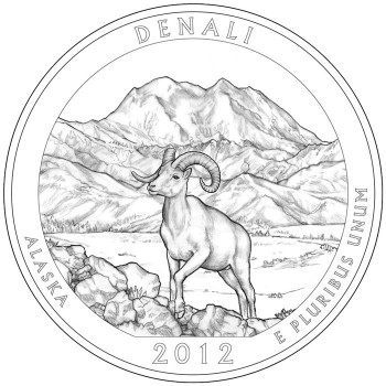 2012 Denali National Park Quarter Design