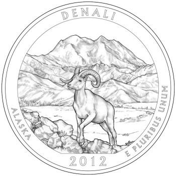2012 Denali National Park Quarter Design