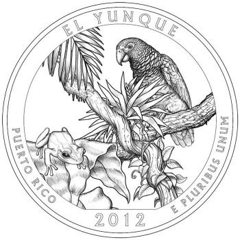 2012 El Yunque National Forest Quarter Design