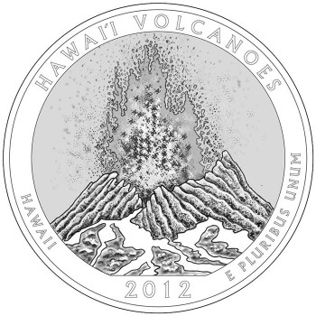 2012 Hawaii Volcanoes National Park Quarter Design