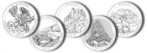 2012 National Park Quarters and National Forest Quarter Designs