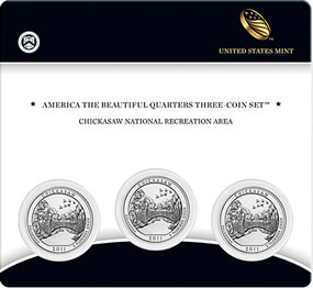 Chickasaw Quarters Three Coin Set