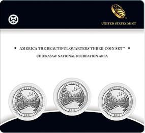 Chickasaw Quarters Three Coin Set