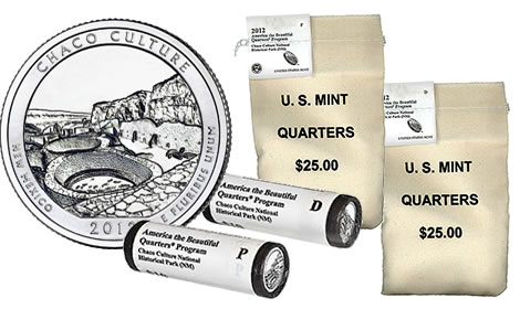Chaco Culture National Historical Park Quarter Rolls and Bags