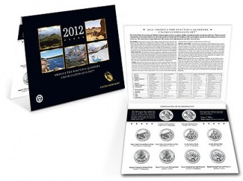2012 America the Beautiful Quarters Uncirculated Set