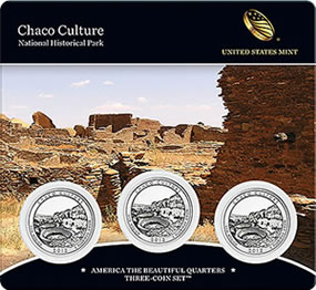 Chaco Culture Park Quarters Three Coin Set