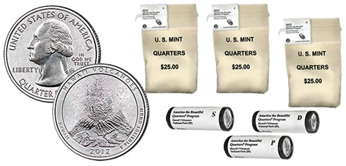Hawaii Volcanoes National Park Quarters in Rolls and Bags