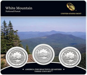 2013 White Mountain Quarters Three-Coin Set