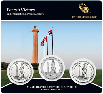 2013 Perry's Victory Quarters Three-Coin Set - Front