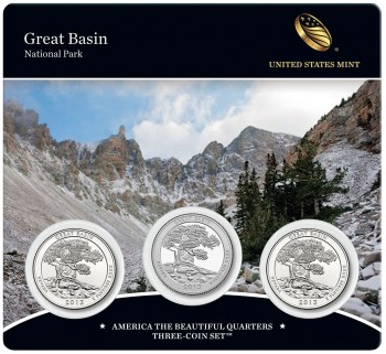 2013 Great Basin Quarters Three-Coin Set - Front