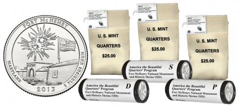 Rolls and Bags of Fort McHenry National Monument and Historic Shrine Quarters