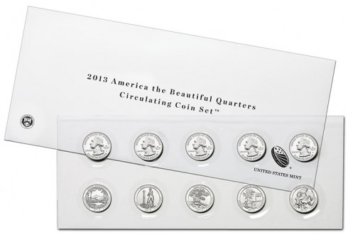 2013 America the Beautiful Quarters Circulating Coin Set