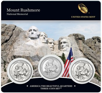 Mount Rushmore Quarters Three-Coin Set