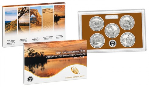 2014 National Park Quarters in Clad Proof Set